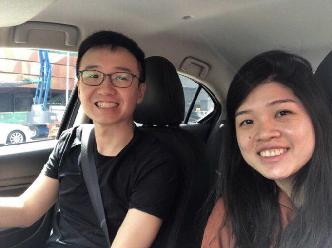 Dominic and Wei Ling in their brand new ride